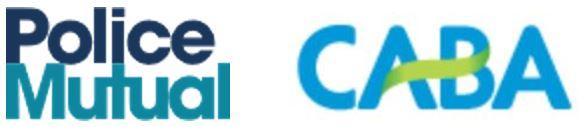 Police Mutual and CABA logos